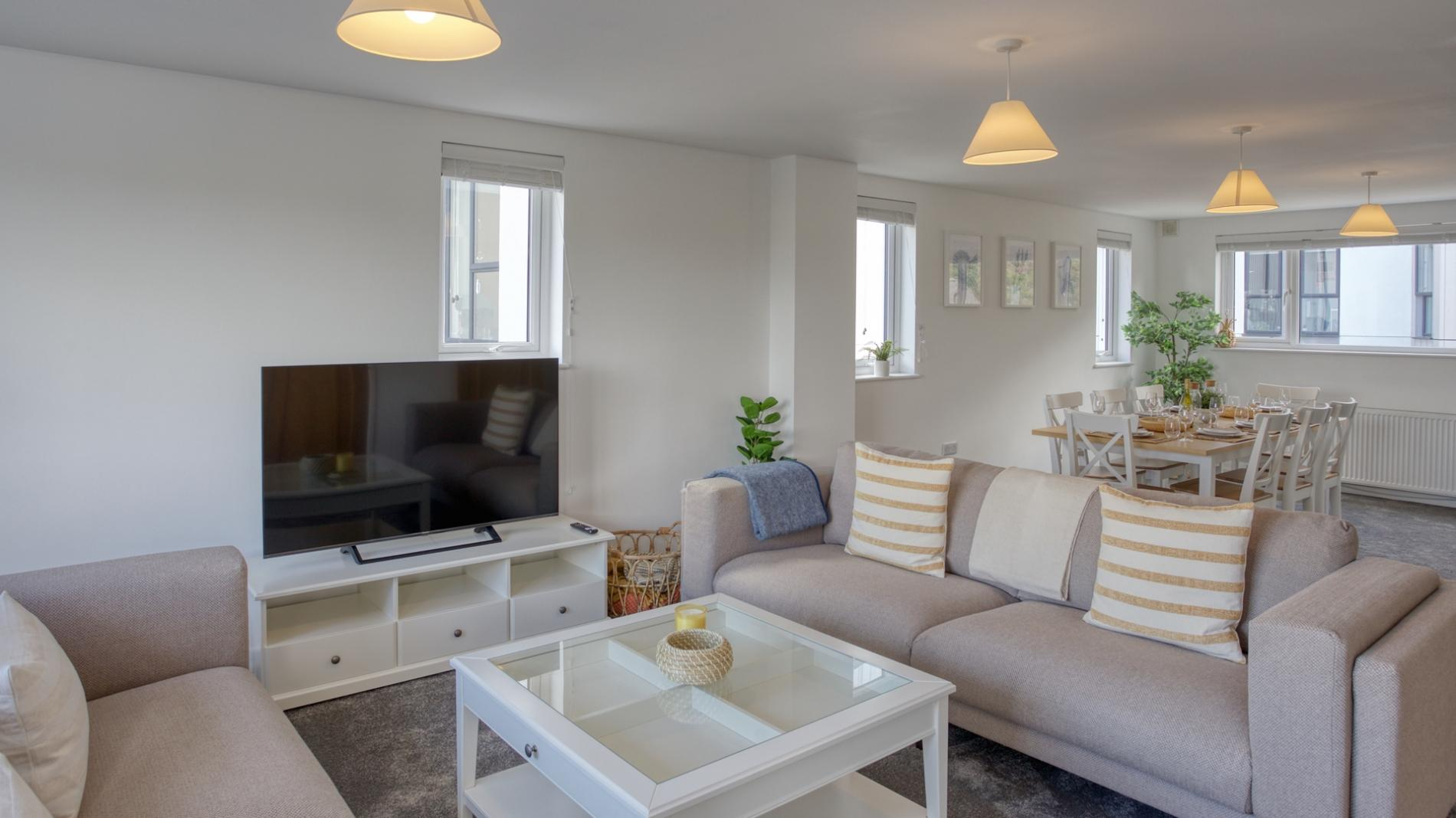 Fantastic sea views in Falmouth, new 4BD townhouse