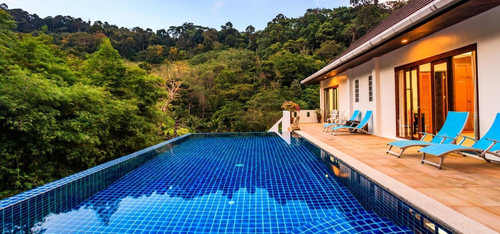 BBK -  Private pool waterfall jungle villa in Kathu - FREE MOTORBIKE