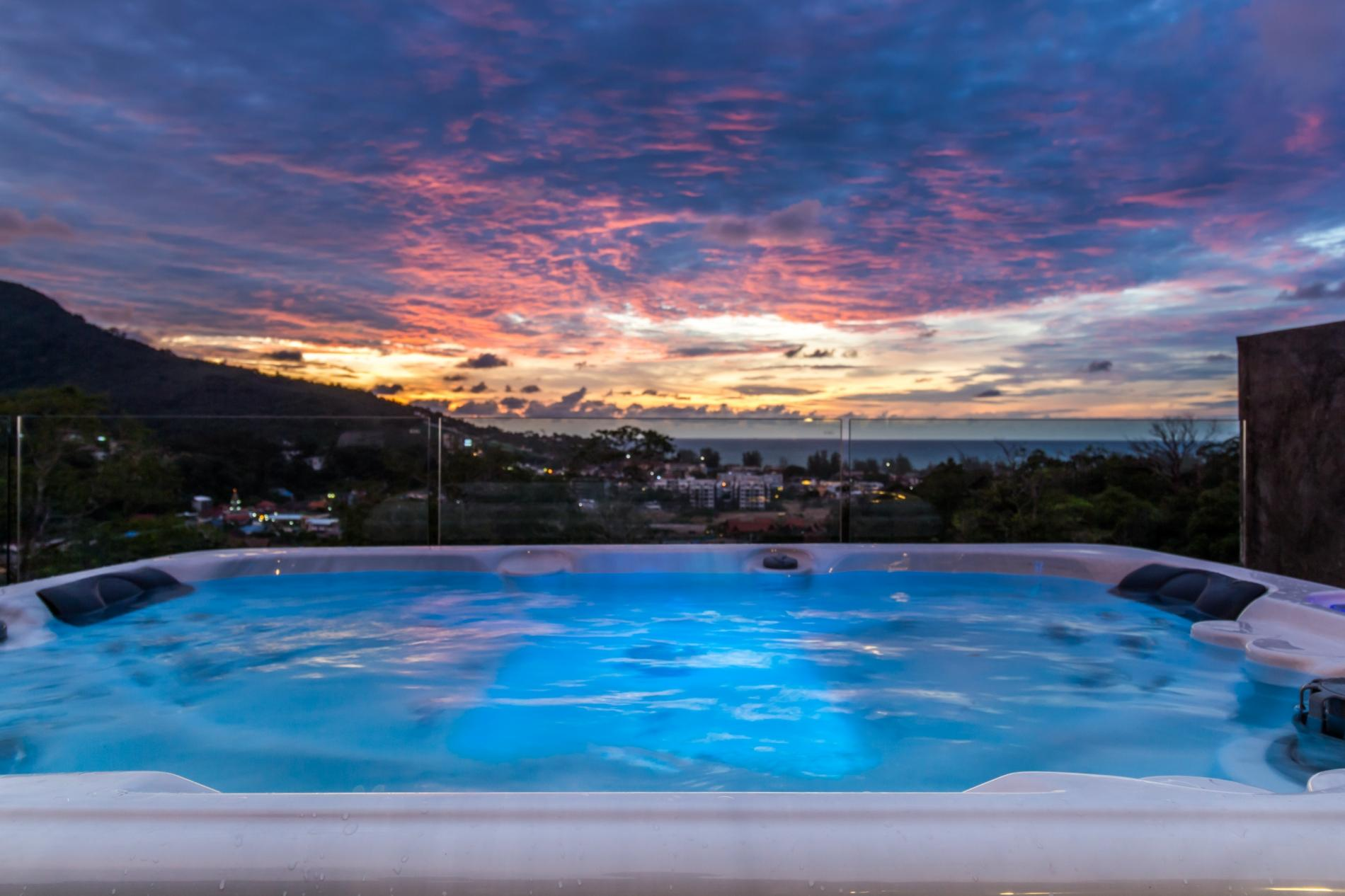 Kamala Sea View villa with private pool and rooftop jacuzzi photo 15928644