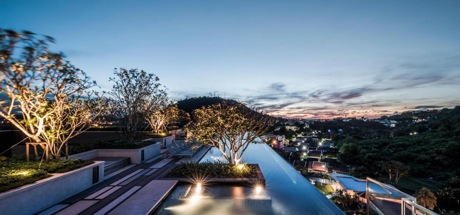 The Base Heights - Phuket town convenient luxury one bedroom apartment, pool, gym and shopping!