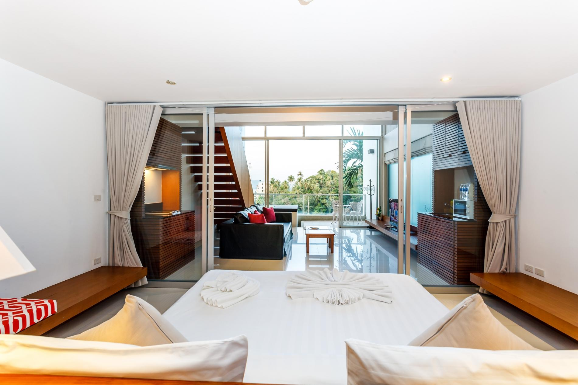 Apartment The Quarter 408 - Seaview Duplex in Surin with patio and shared pool photo 16306676