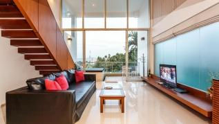 The Quarter 408 - Seaview Duplex in Surin with patio and shared pool
