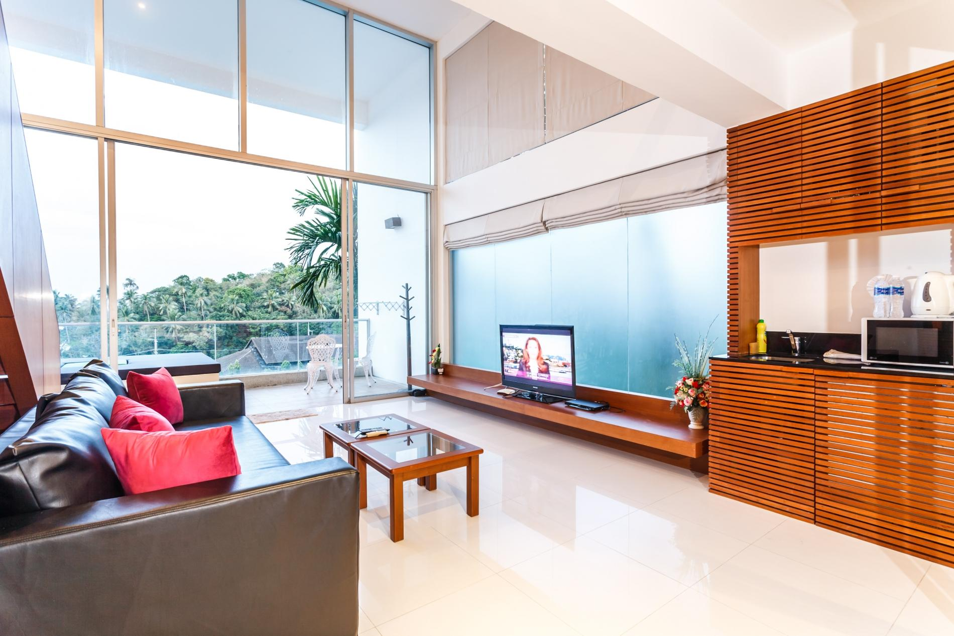 The Quarter 408 - Seaview Duplex in Surin with patio and shared pool photo 16273458