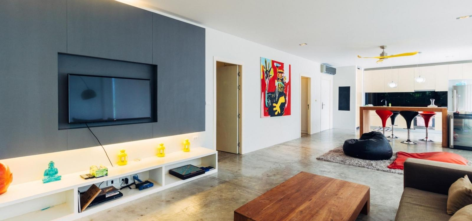 Zen Space 51M - Apartment for 4 with pool, gym and children playground